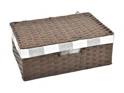 Úložný box s víkem hnědý
