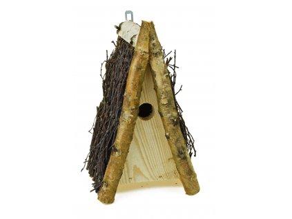 12700 budka pro ptaky se strechou z brezovych vetvicek