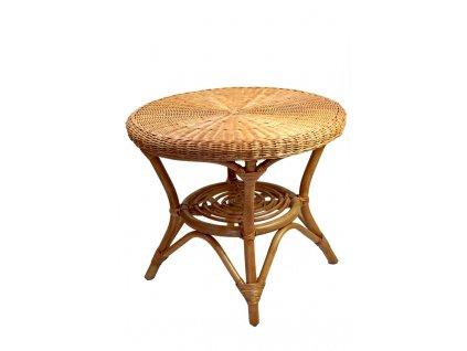 Ratanový stůl Vingo se spodní poličkou