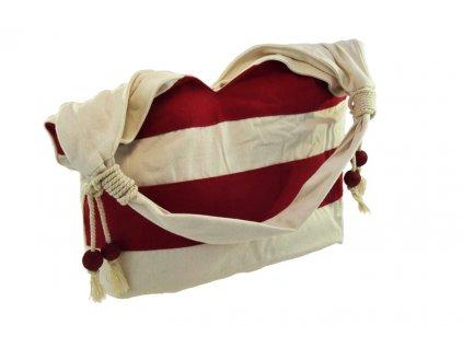 18191 1 lehka cervena kabelka pres rameno