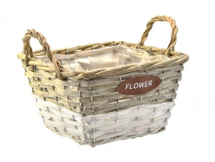 18302 sada 3 sedobilych proutench kosicku flower ctvercove