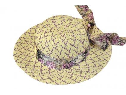 Dětský klobouk fialový
