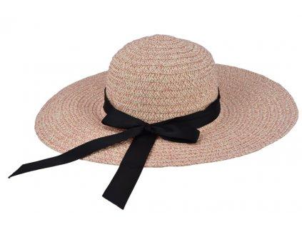 18554 1 damsky klobouk melirovany svetle ruzovy