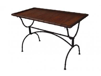 Obdélníkový stůl s bambusovou deskou