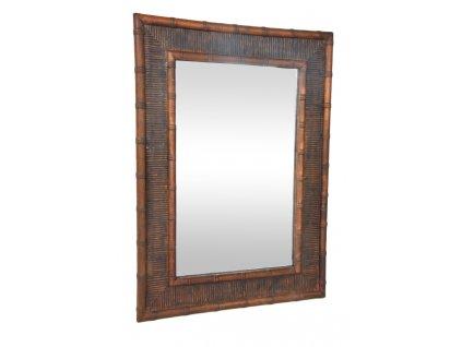 Zrcadlo v bambusovém rámu