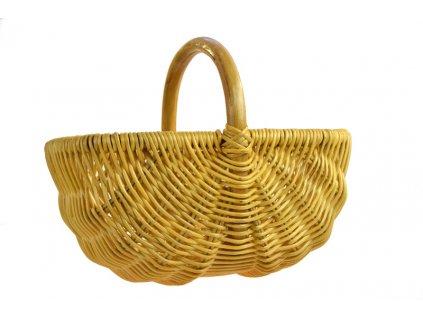 Ratanový košík na nákup medový