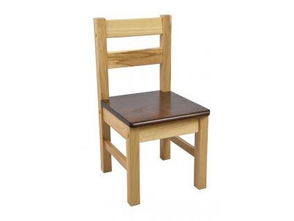 Dětská židlička – hnědá