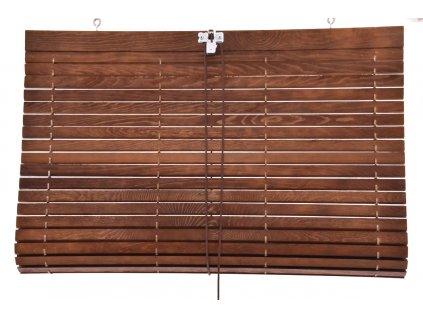 Dřevěná roleta na terasu - barva hnědá