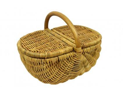 Ratanový koš na piknik medový