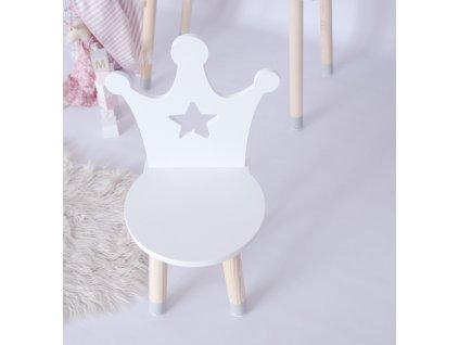 Dětská židlička koruna