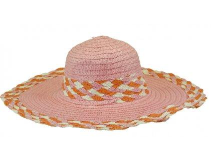 6368 1 klobouk ruzovy s lemem