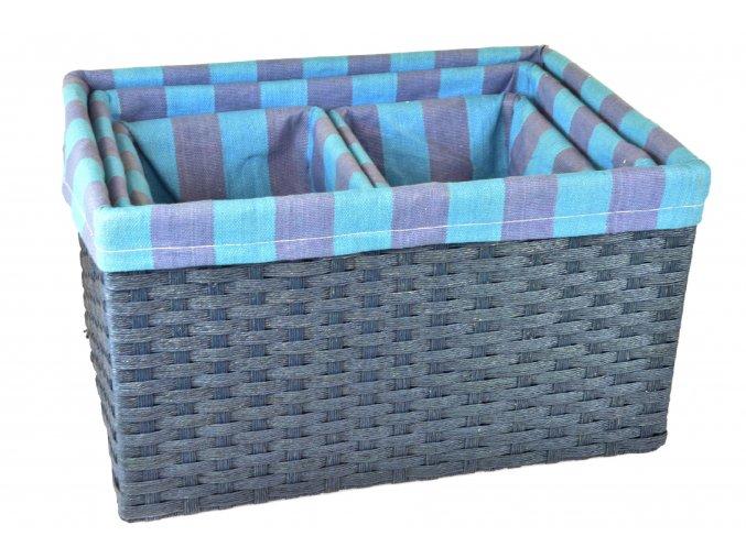 Sada 4 úložných boxů (rozměry boxu Sada  25x30x44 23x26x40 20x18x22 20x18x22)
