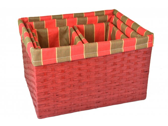 Sada 4 úložných boxů (rozměry boxu Sada  25x30x44|23x26x40|20x18x22|20x18x22)