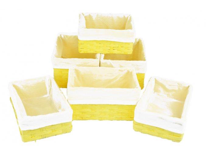 11096 1 sada 6 uloznych boxu zlutych