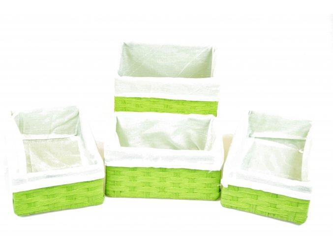 Sada 4 úložných boxů zelených