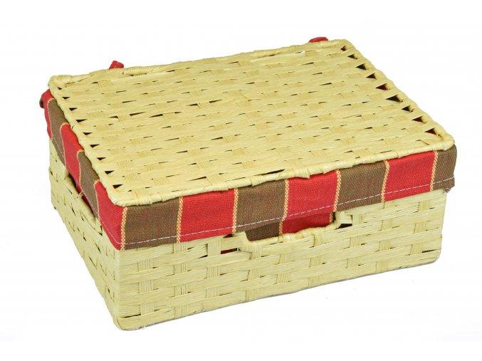 Sada 3 úložných boxů s víkem  (rozměry boxu Sada  3x30x21 11x26x18 9x22x15)