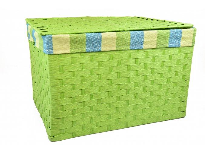 Sada 4 úložných boxů s víkem zelených (rozměry boxu Sada  30x43x32 28x40x29 26x36x25 24x32x21)