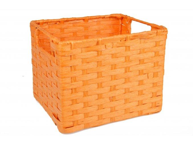Sada 3 úložných boxů oranžových (rozměry boxu Sada  21x25x27 20x22x24 17x19x21)