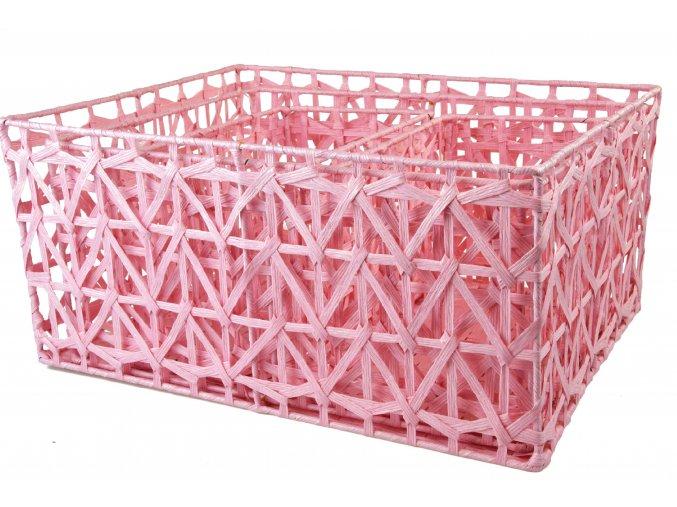 Sada 3 úložných boxů růžových (rozměry boxu Sada  22x46x36|20x42x32|18x30x18)