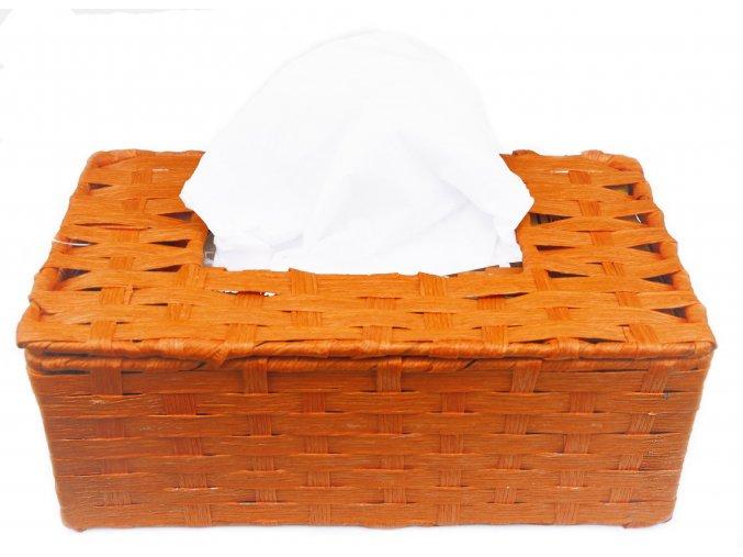 Box na kapesníky oranžový