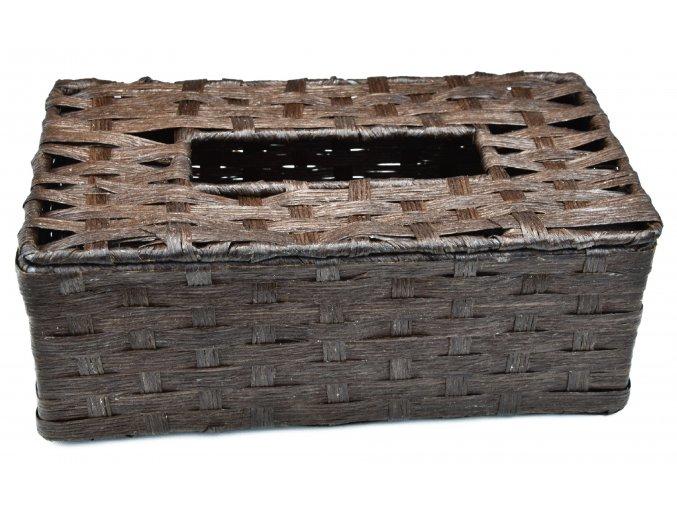 Box na kapesníky hnědý