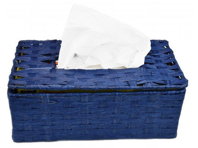 Box na kapesníky modrý
