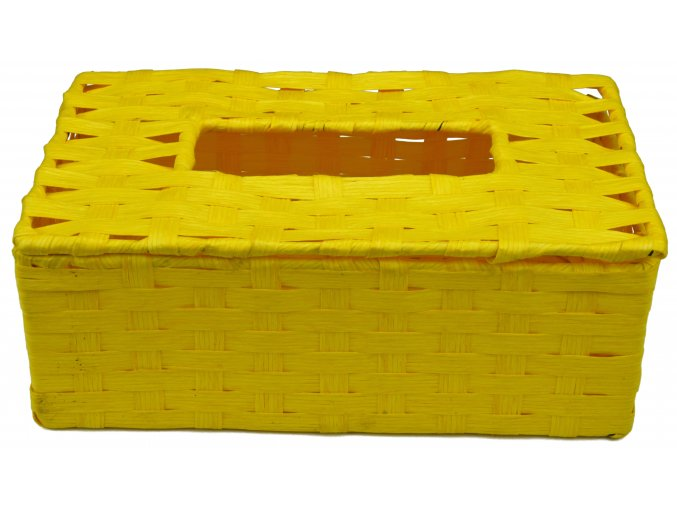 Box na kapesníky žlutý