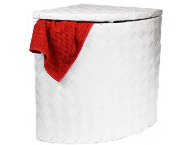 Koš na prádlo rohový bílý