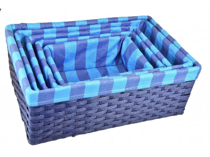 Úložný box modrý (rozměry (cm) 30x20, v. 12)