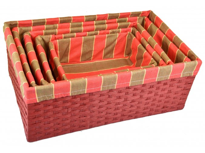 Úložný box červený (rozměry (cm) 30x20, v. 12)