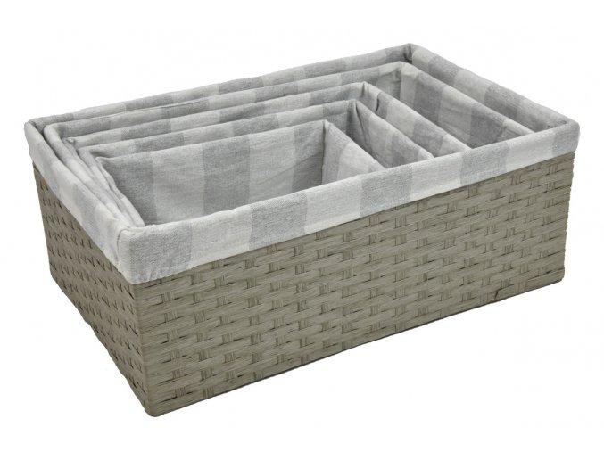 Úložný box šedý (rozměry (cm) 30x20, v. 12)