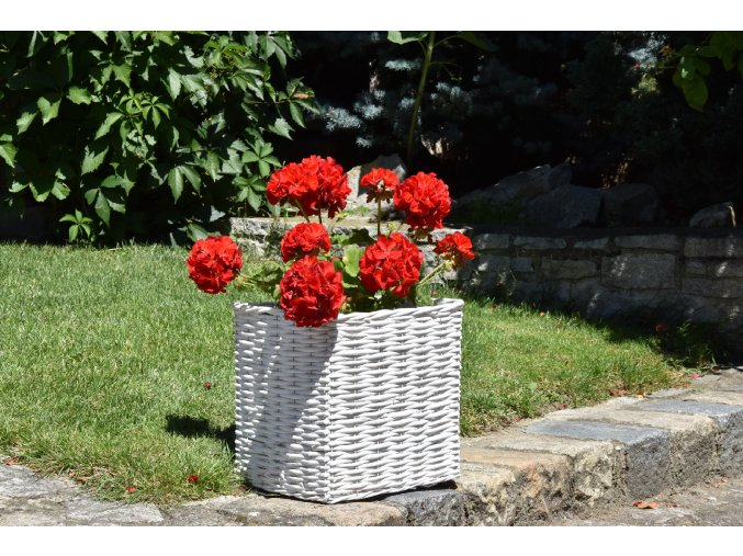 13045 kvetinac ctverhrany bily