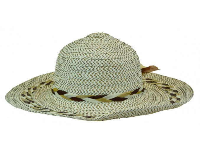 13677 klobouk bezovo hnedy se spletenim