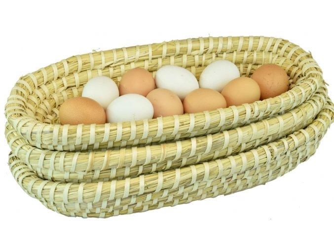 Slaměné ošatky Vingo s vajíčky