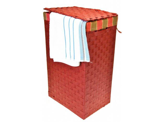 Koš na prádlo červený (rozměry (cm) 36x26, v. 58)