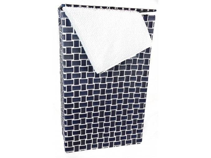 Koš na prádlo modro-bílý (rozměry (cm) 36x26, v. 58)
