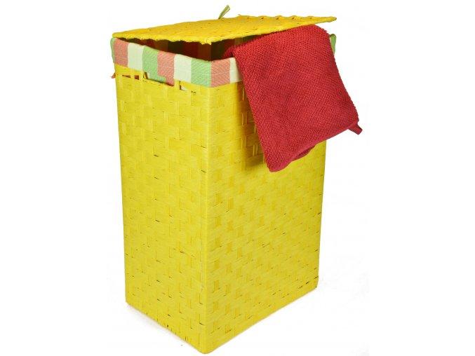 Koš na prádlo žlutý (rozměry (cm) 36x26, v. 58)