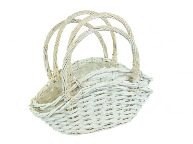 Květináč taška bílá