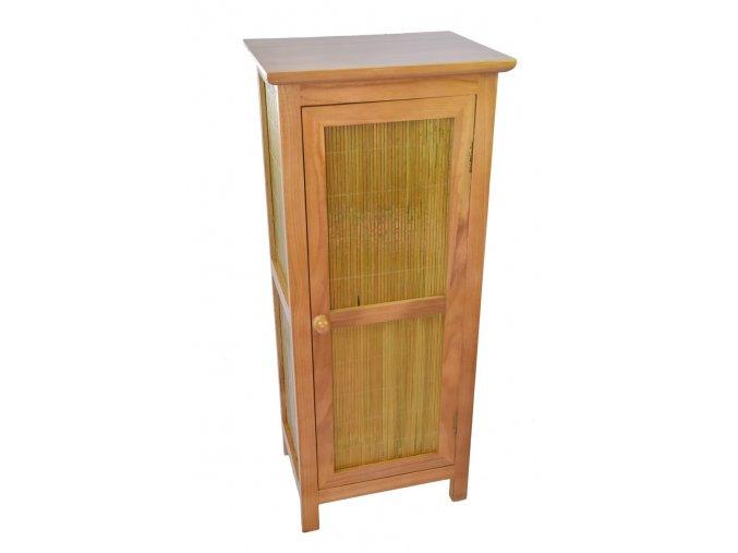 Dřevěná skříňka Vingo s bambusovými dvířky
