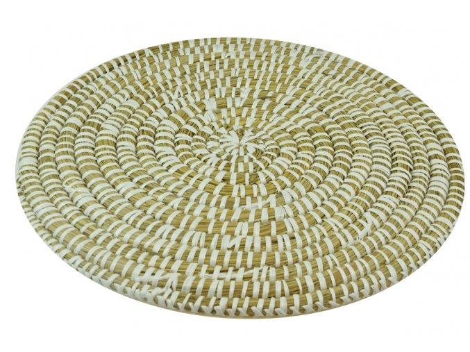 Prostírání Vingo kulaté bílé pleteno z mořké trávy