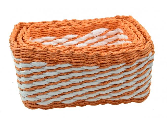 15237 sada 3 boxu oranzovych hranatych