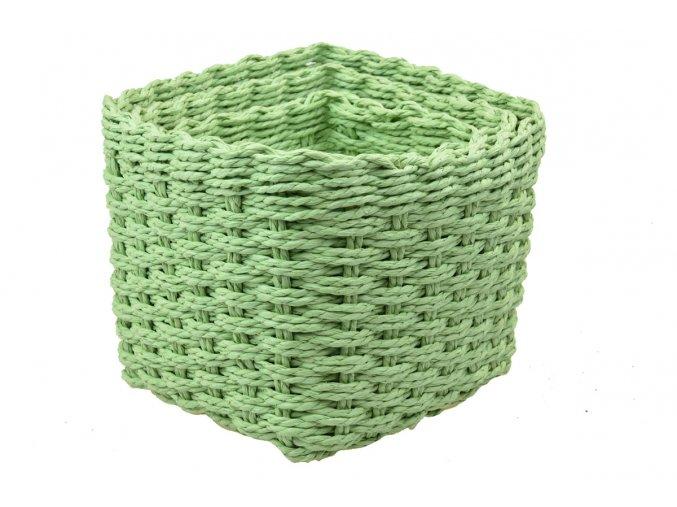 Sada 3 boxů hranatých zelených