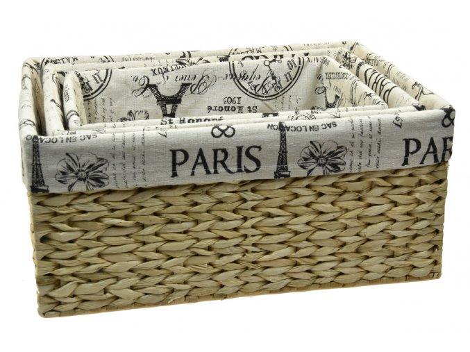 Úložný box s látkou PARIS (rozměry (cm) 31x21, v. 15)
