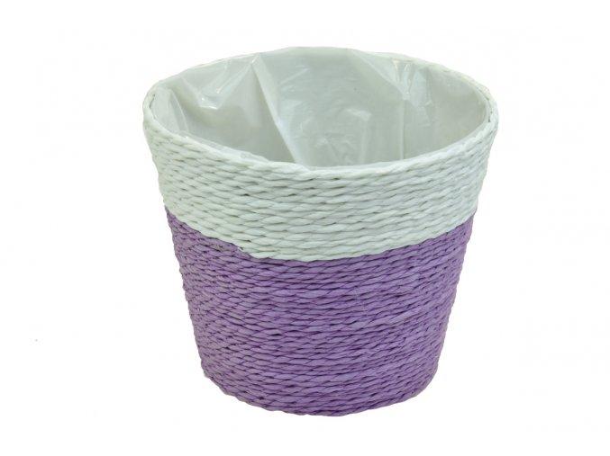Květináč fialovo-bílý