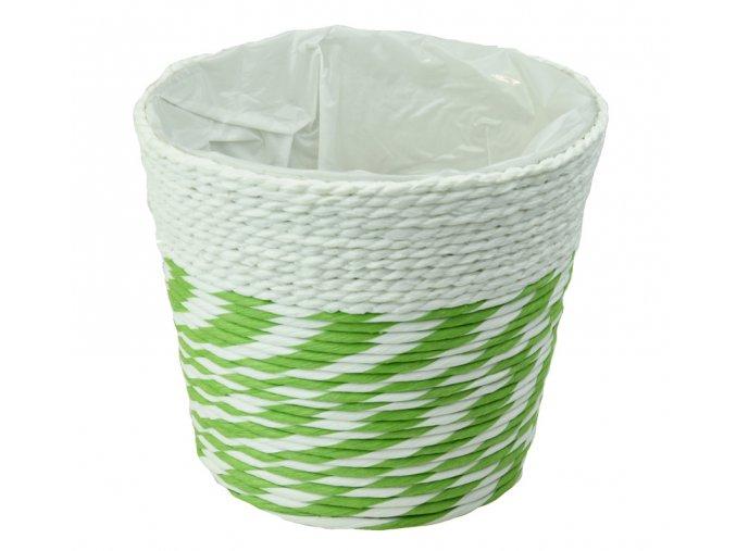 Květináč kombinace bílá se zelenou