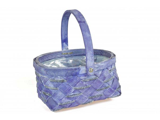 Košíček s úchytem fialový