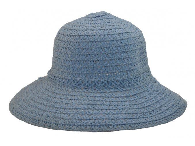 Dámský letní klobouk světle modrý