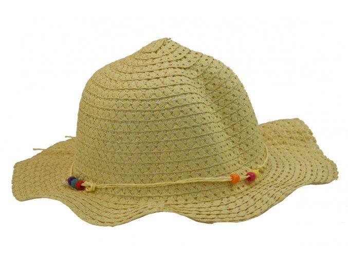 Dětský slaměný klobouk slámové barvy