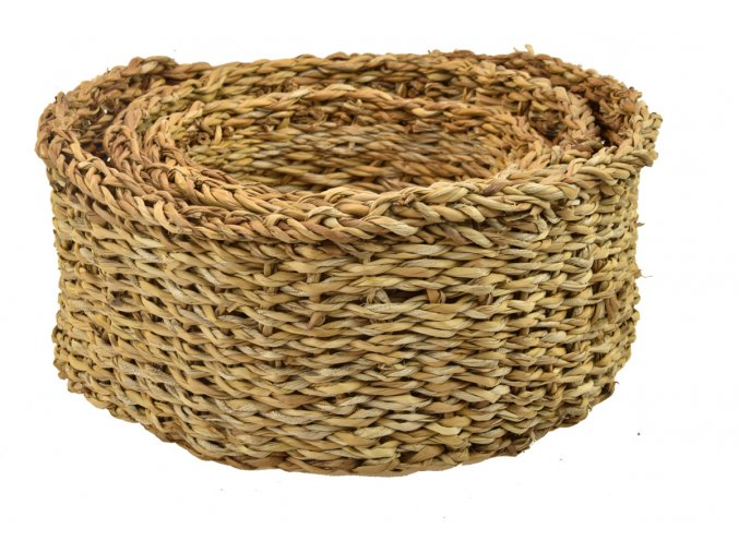 Sada 3 košíků z mořské trávy