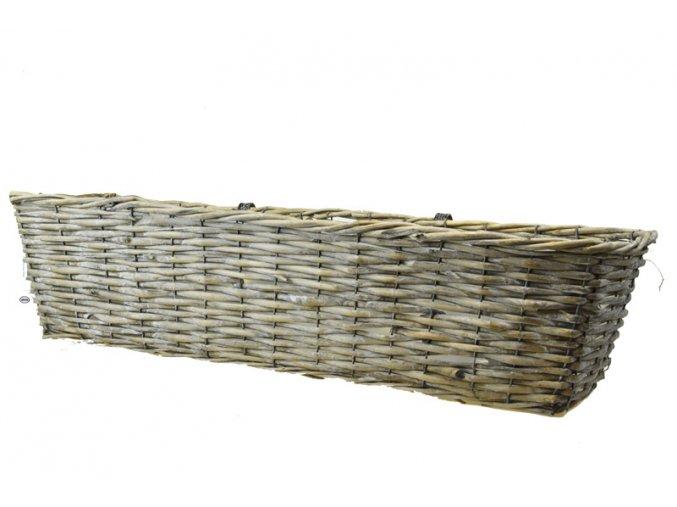 Šedý balkónový truhlík (rozměry (cm) 46x21, v. 16 cm)